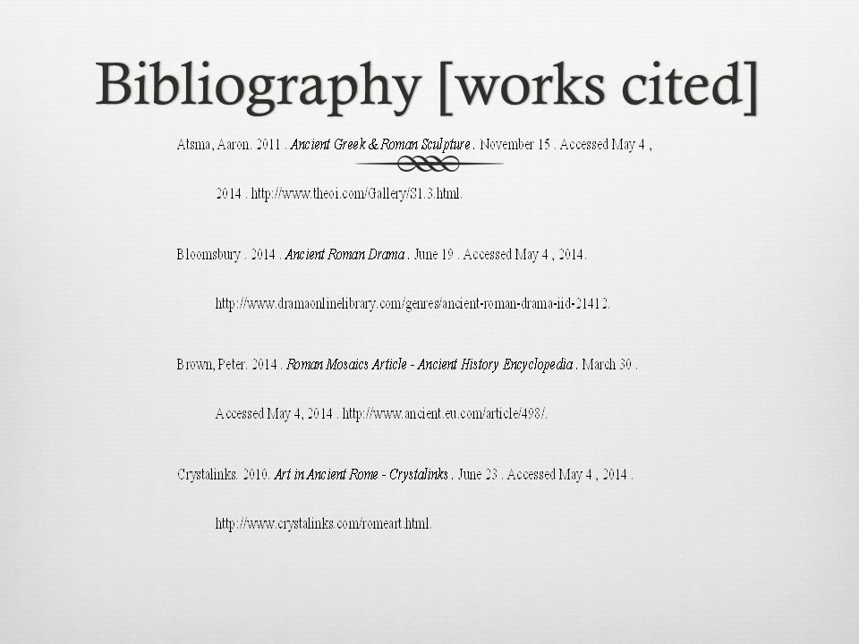 Bibliography [works cited]